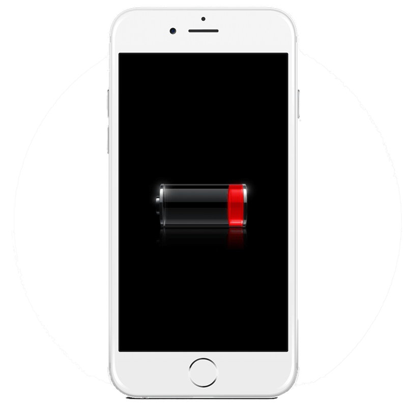 Image of iPhone with battery problem