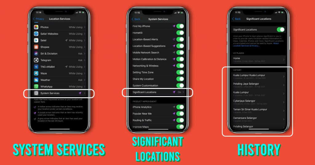 find iphone location history
