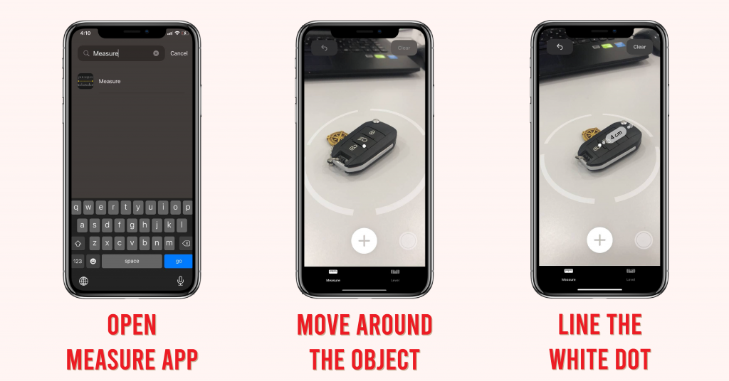iPhone tips measure object