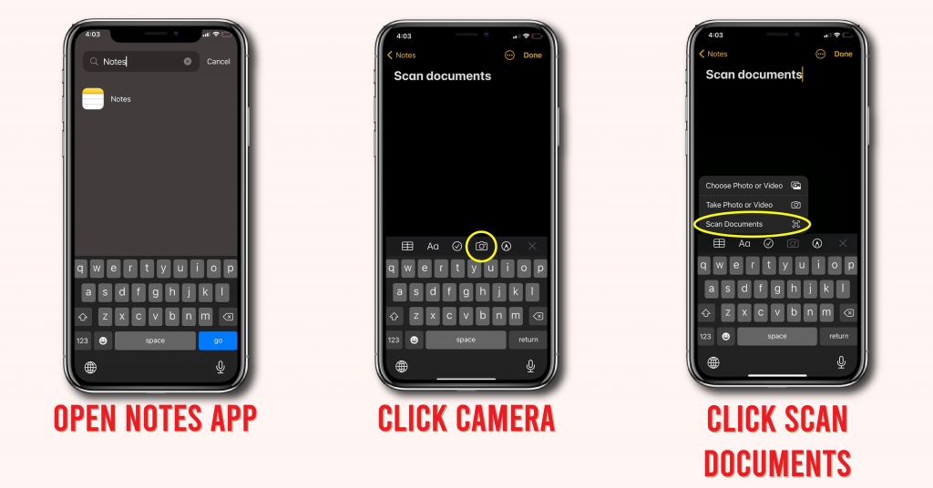 iPhone tips to scan documents
