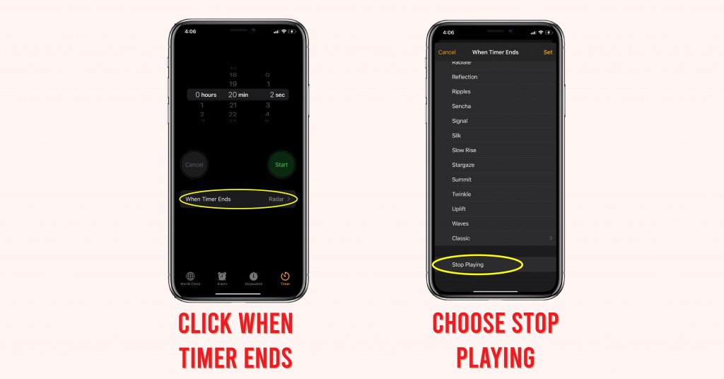 iPhone tips to stop music automatically