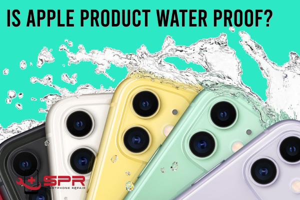 is apple product water proof